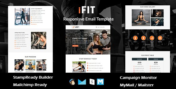 iFIT - Responsive Email Template With Online Stampready Builder Access            TFx Nickolas Bagus