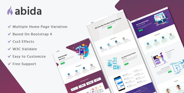 Abida - Premium HTML Template            TFx Montague Andie