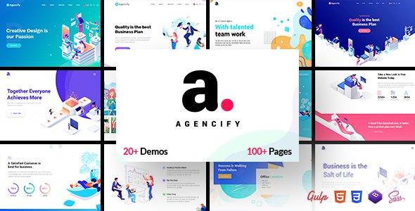 Agencify - Isometric Portfolio Agency HTML Template            TFx Elias Wilkie