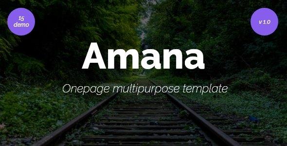 Amana - Multipurpose HTML5 Onepage Template            TFx Irvin Jonty