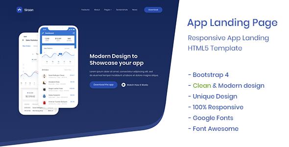 App Landing Page - Siroon            TFx Jun Harley