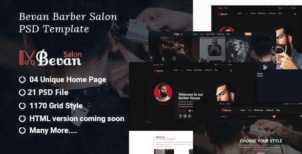 Bevan - Barber Salon PSD Template            TFx Nanuk Hayden