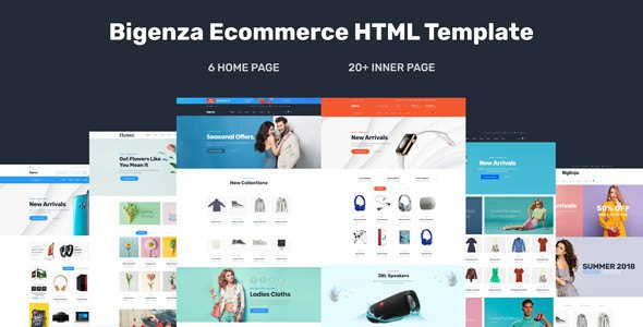 Bigenza - Ecommerce Shopping Business Ecommerce Cart HTML Template            TFx Lenox Gilbert
