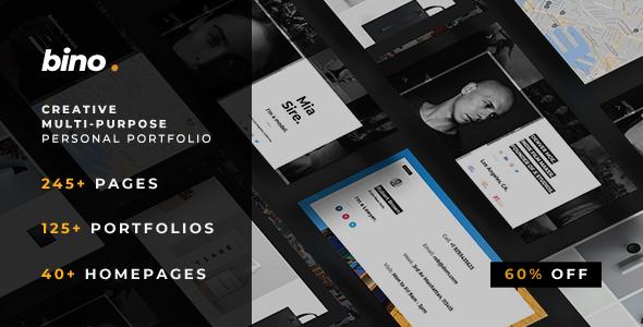 Bino — Multi-Purpose Personal Portfolio Template            TFx Putra Bobby