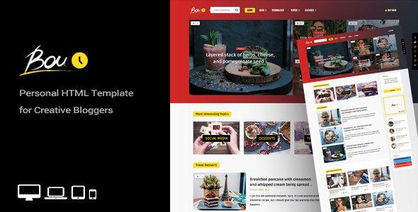 Bouplay - Personal HTML Template for Creative Bloggers            TFx Bartholomew Jeb