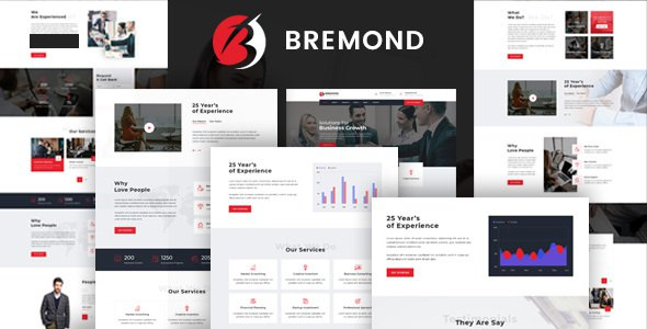 Bremond - Business Consulting and Professional Services HTML Template            TFx Clement Anthony
