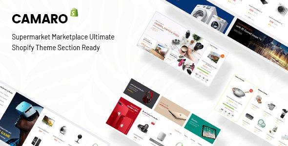 Camaro - Gadgets & Digital Fashion Super Market Minimalist Shopify Section Theme            TFx Suleiman Teagan