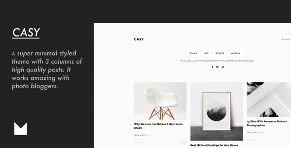 Casy - Clean & Minimal Portfolio            TFx Jaiden Joshua