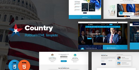 Country - Political HTML Template            TFx Jerred Gideon