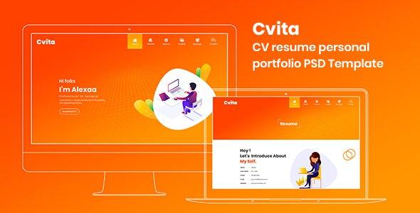 Cvita - CV Resume Personal Portfolio PSD Template            TFx Ohannes Durward