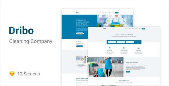 Dribo — Cleaning company Sketch Template            TFx Finnegan Jae