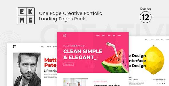 Ekme - One Page WordPress Landing Pages Theme            TFx Adolph Alexis