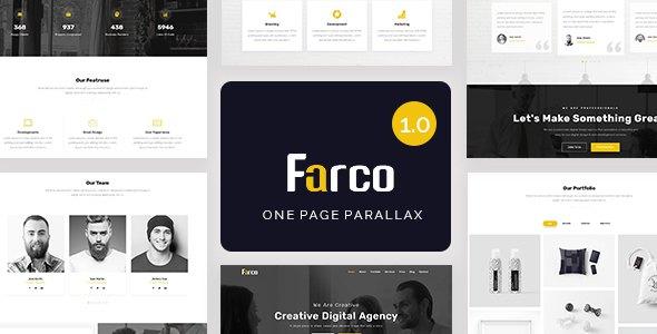 Farco - One Page Parallax            TFx Garnet Jordan