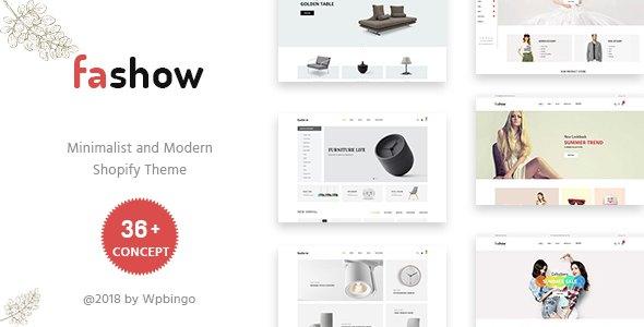 Fashow - Minimal and Modern Shopify Theme            TFx Pépin Sydney