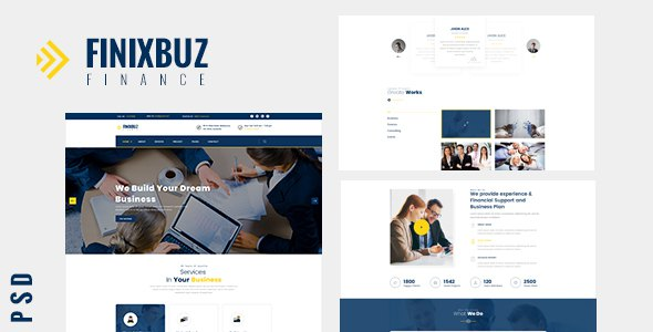 Finixbuz - Corporate & Financial PSD Template            TFx Katashi Gil