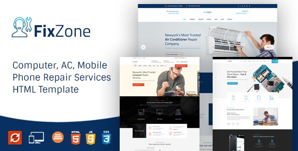 FixZone - Computer, Electronics and Phone Repair HTML Template            TFx Lanford Davis