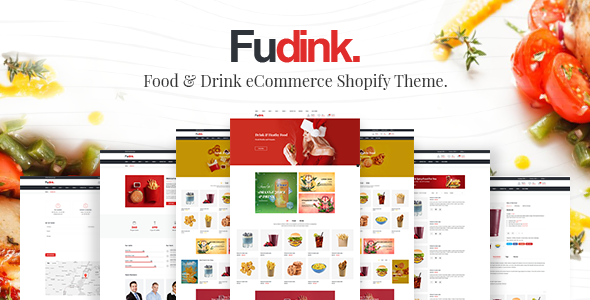 Fudink - Food & Drink Shopify Theme + RTL + Dropshipping            TFx Delano Perce