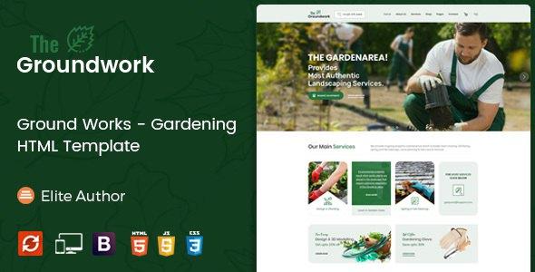 Ground Works - Gardening HTML Template            TFx Rokuro Kouki