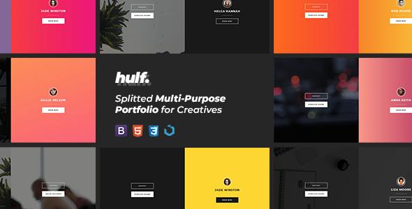 HULF — Splitted Multi-Purpose Portfolio for Creatives            TFx Hideaki Clive