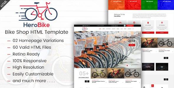 HeroBike - Responsive Bike Shop Template            TFx Jaydon Tasunka