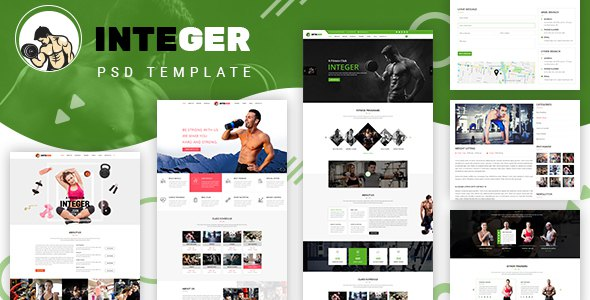 Integer - Gym Fitness PSD Template            TFx Patsy Balfour