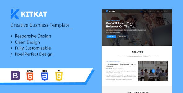 Kitkat - One Page Business Template            TFx Stanislas Talon