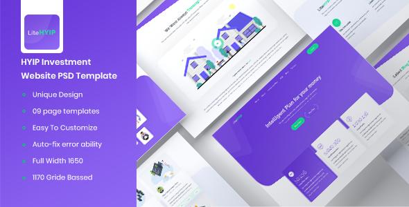 LiteHYIP – HYIP Investment Website PSD Template            TFx Eustace Stewart