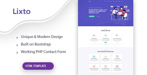Lixto - One Page Agency HTML Template            TFx Daniel Blake