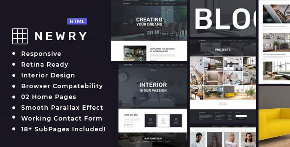 Newry - Architecture & Interior Template            TFx Dwi Tate