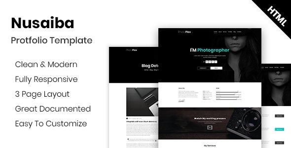 Nusaiba - Photography Portfolio HTML Template            TFx Boyd Bede