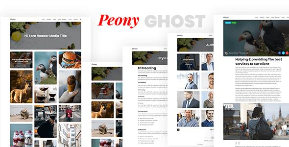 Peony - Responsive Premium Ghost Theme            TFx Bleda Aram