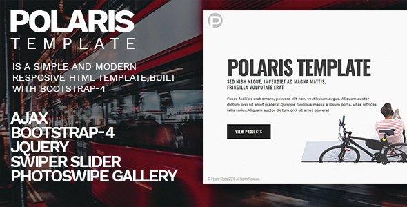 Polaris - Personal Portfolio Template            TFx Henderson Drogo