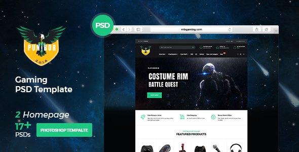 Punibor - Powerful Gaming PSD Template            TFx Boyce Jurou