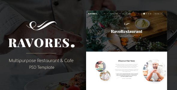 RavoRes - Multipurpose Restaurant & Cafe PSD Template            TFx Chas Trevelyan