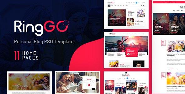 RingGo - Modern Personal Blog PSD Template            TFx Gilbert Leopold