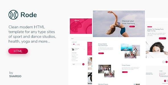 Rode - Yoga, Sport and Health HTML Template            TFx Kohaku Peyton
