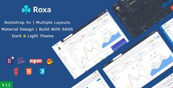 Roxa - Bootstrap 4 Material Design Admin Template            TFx Kuro Beaumont