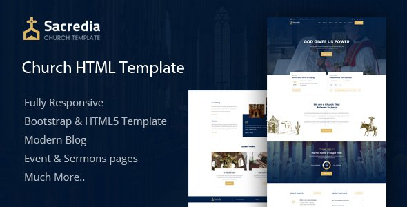 Sacredia - Church HTML5 Template            TFx Jeff Shichiro