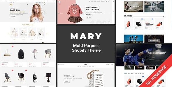Shopify - Mary Clean, Minimal , Drag & Drop            TFx Bidziil Joseph