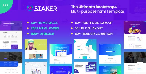 Staker - Multi-Purpose HTML5 Template            TFx Royle Tiger