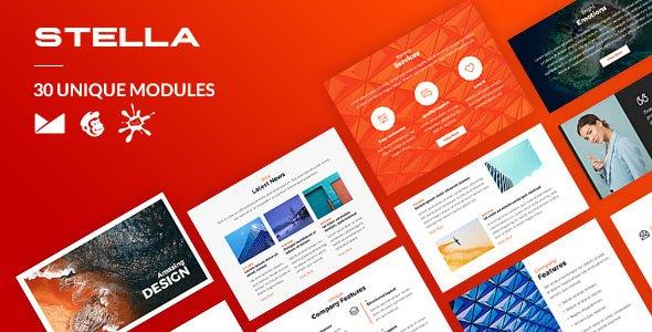 Stella Email-Template + Online Builder            TFx Merle Jo