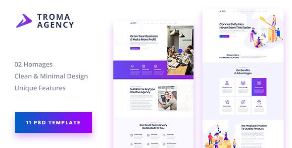 TROMA - Creative Agency PSD Template            TFx Audley Crofton