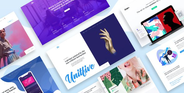 Unit Five - Creative Multipurpose PSD Template for Agency and Corporate            TFx Jeffry Reg