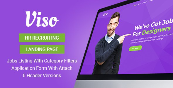 Viso - HR Recruiting Landing Page Template            TFx Roderick Iggy