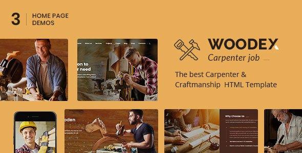 Woodex - Carpenter and Craftman Business HTML Template            TFx Lamont Kelley