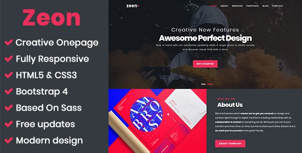 Zeon - Creative Onepage Template            TFx Spike Linford