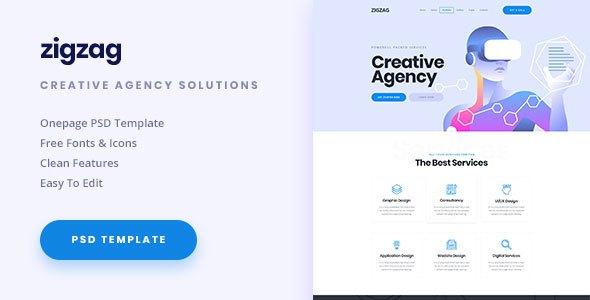 ZigZag - Creative Agency PSD Template            TFx Bruce Elton