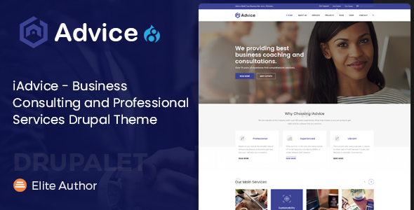 iAdvice - Business Consulting and Professional Services Drupal Theme            TFx Kuro Maynard