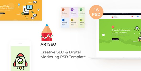 ARTSEO - Creative Seo & Digital Marketing PSD Template            TFx Evelyn Darren