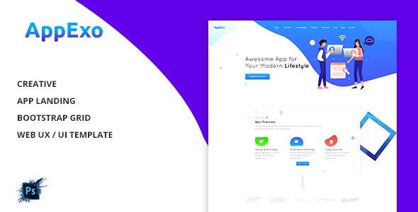 AppExo - App Landing Page PSD Template            TFx Melville Hank